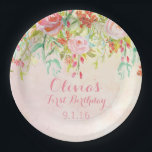 "Watercolor Flowers Birthday Party Paper Plates<br><div class=""desc"">These whimsical watercolor floral paper plates are perfect for your birthday party,  or any other celebratory occasion!</div>"