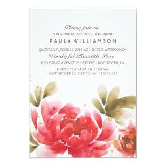 Watercolor Flowers Bouquet Bridal Shower Card