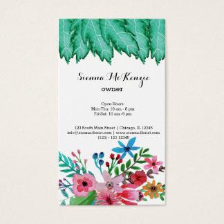 Watercolor Flowers bouquet Business Card