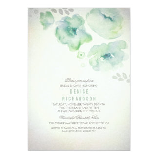 Watercolor Flowers Bridal Shower Invitation