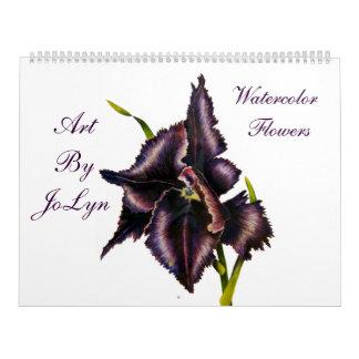 Watercolor  Flowers  Calendar