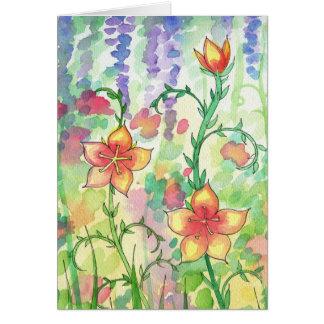 Watercolor Flowers Card ~ Blank