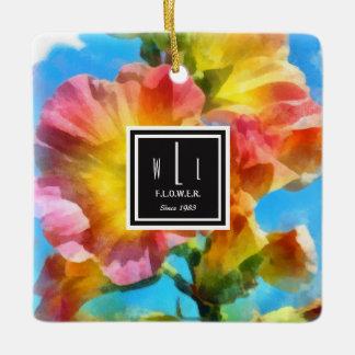 Watercolorflowers Ceramic Ornament