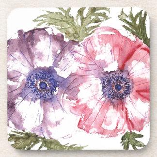 Watercolor flowers coaster