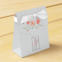 Watercolor Flowers Elegant Wedding Favor Box