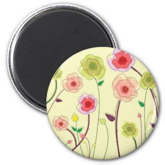 Watercolor Flowers Fridge Magnets