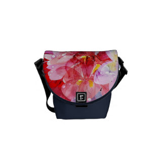 Watercolor flowers garden. Abstract illustration Messenger Bag