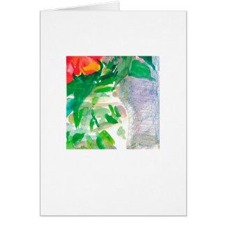 Watercolor flowers in a jar card