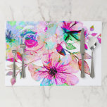 """Watercolor flowers Large Tearaway Placemat<br><div class=""""desc"""">Watercolor flowers Large Tearaway Placemat</div>"""