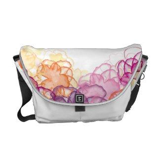 Watercolor Flowers Messenger Bag