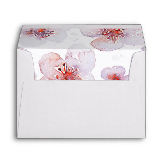 watercolor flowers modern pretty wedding envelope