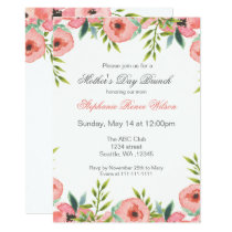 Watercolor Flowers Mother's Day Brunch Invites