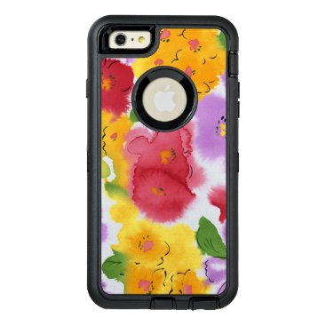Watercolor Flowers OtterBox Defender iPhone Case