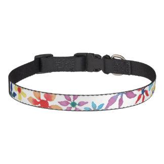 Watercolor Flowers Pet Collar
