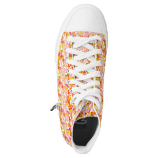 watercolor flowers printed shoes