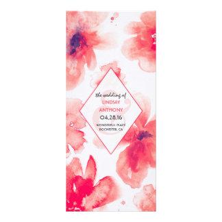 watercolor flowers romantic wedding programs
