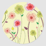 Watercolor Flowers Stickers