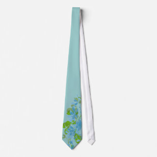 Watercolor Flowers Tie