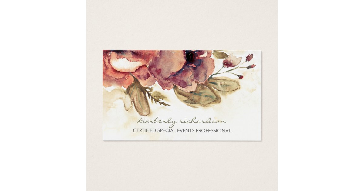 Floral Business Cards & Templates | Zazzle