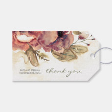 Watercolor Flowers Vintage Wedding Gift Tags