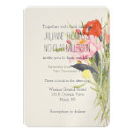 Watercolor Flowers Wedding 5x7 Paper Invitation Card