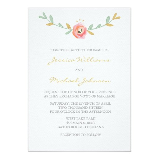 How To Make Watercolor Wedding Invitations is awesome invitations example