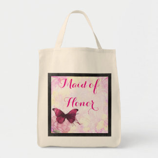 Watercolor Flowers with Butterfly Wedding Tote Bag