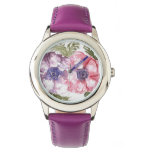 Watercolor flowers wristwatches