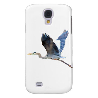 Watercolor Flying Blue Heron Galaxy S4 Cover