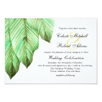 Watercolor Foliage Tropical Wedding Card