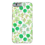 Watercolor forest in doodle style barely there iPhone 6 case