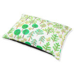 Watercolor forest in doodle style pet bed