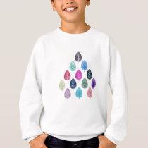 Watercolor Forest Pattern Sweatshirt