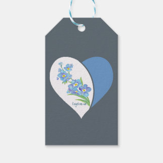 Watercolor Forget-me-not Flower art Gift Tags