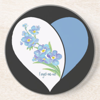 Watercolor Forget me not Flower Drink Coaster