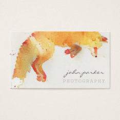 Watercolor Fox Business Card at Zazzle