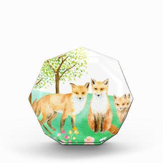 Watercolor fox family award