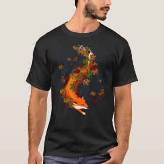 Watercolor Fox Flower Of Life Spirit Animal T-Shirt