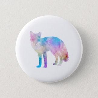 Watercolor Fox Pinback Button
