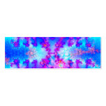 Watercolor Fractal Bookmark Double-Sided Mini Business Cards (Pack Of 20)