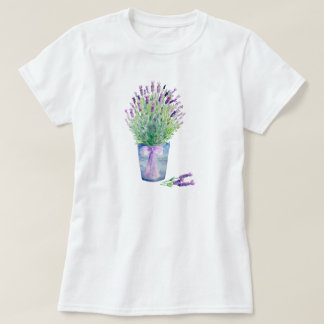Watercolor French Lavender T Shirt