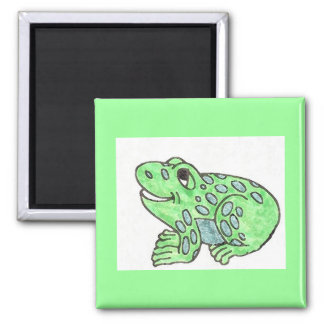 Watercolor frog drawing magnet