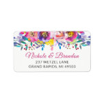 """Watercolor Fuchsia Gold Blossom Floral Address Label<br><div class=""""desc"""">Add your personal touch with this Watercolor Fuchsia Gold Blossom Floral Address Label. All of our templates are fully customizable. Please click the &quot;Customize&quot; button and use our design tool for a further editing.</div>"""