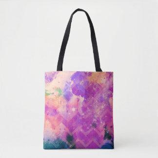 Watercolor Galaxy Painting Tote Bag