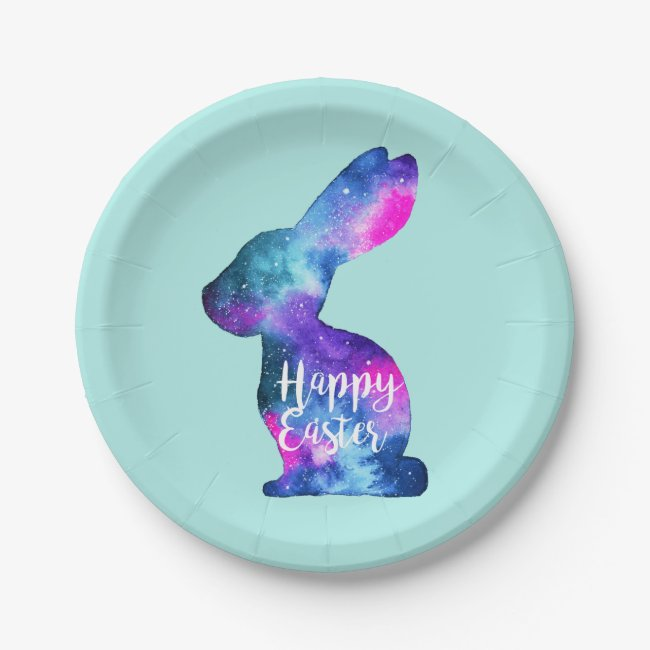 Watercolor Galaxy Rabbit Easter