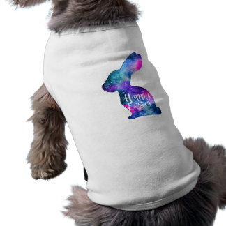 Watercolor Galaxy Rabbit Easter Shirt