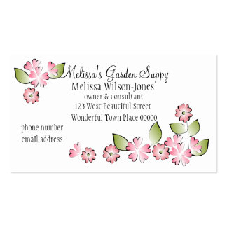 Watercolor Garden Double-Sided Standard Business Cards (Pack Of 100)