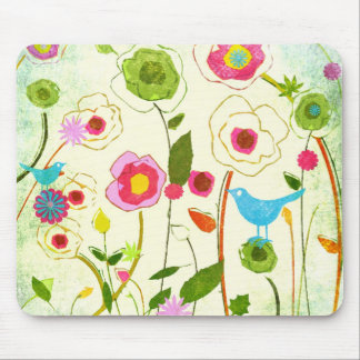 Watercolor Garden Flowers Mouse Pad