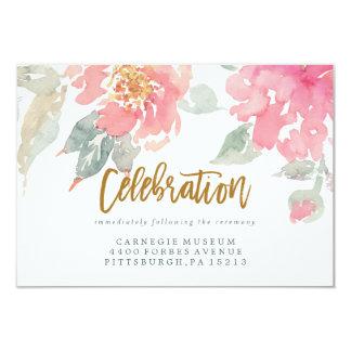 WATERCOLOR GARDEN WEDDING celebration card