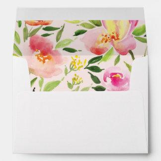 WATERCOLOR GARDEN WEDDING envelope liner